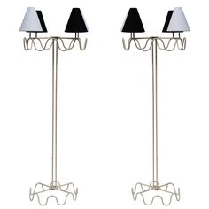 """Jean Royere """"Ondulation"""" Floor Lamps   From a unique collection of antique and modern floor lamps  at http://www.1stdibs.com/furniture/lighting/floor-lamps/"""