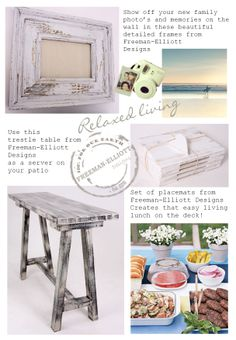 mix and match paint techniques on your trestle table, frames etc