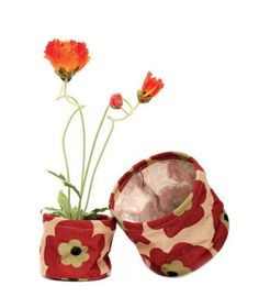 rockflowerpaper Jute Potted Plant Covers