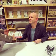 Nick Hornby signs books and chats with fans. Thanks for following along with #PowellsEvents! (at Powell's Books At Cedar Hills Crossing)