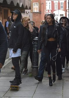 Justin Bieber hits London's streets for a skate with Jayde Pierce #dailymail