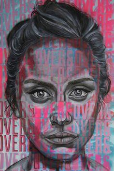 by Ant Carver Meaningful Paintings, A Level Art Sketchbook, Art Alevel, Propaganda Art, Sad Art, Art Inspo, Portrait, Illustration, Art Projects