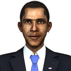 President Barack Obama 3D model on Turbosquid