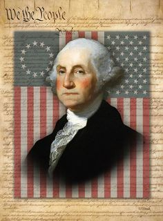 american flag george washington