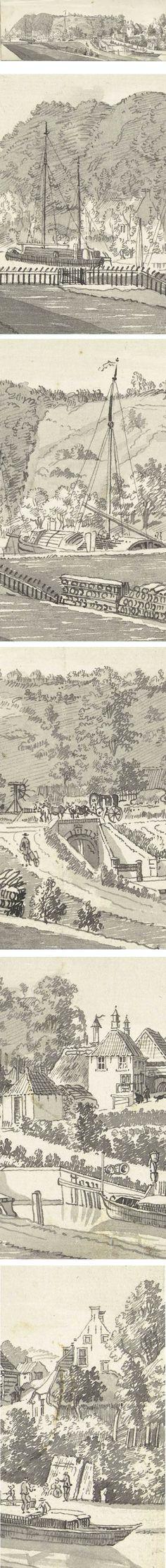 Grebbesluis, Jan de Beijer , pen and wash