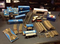 SALE Vintage Large Marklin HO Train Set Germany Track Engine Transformer Bridge  | eBay