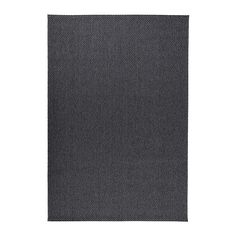 "IKEA - MORUM, Rug, flatwoven, dark gray, 5 ' 3 ""x7 ' 7 "", , Ideal in your living room or under your dining table since the flat-woven surface makes it easy to pull out the chairs and vacuum.The rug is perfect for outdoor use since it is made to withstand rain, sun, snow and dirt."