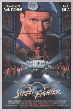 STREET FIGHTER Jean-Claude Van Damme '90s PRINT AD Raul Julia movie advertisement 1994 #JeanClaudeVanDamme #VideoGames #1990s