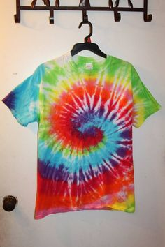Multi Colored Spiral Size Medium - Sunshine Tie Dye Shop
