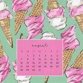 Sweet Caroline Designs Desk Calendar 2016 - August