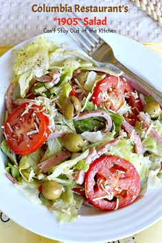 Columbia Restaurant's Salad - The most amazing salad: meats, cheese, lettuce, tomatoes & olives in a fantastic dressing. You will want more and more of this great salad. Clean Eating, Healthy Eating, 1905 Salad Recipe, Columbia Restaurant, Meat Restaurant, Soup And Salad, Pasta Salad, Salad Dressing Recipes, Salad Dressings