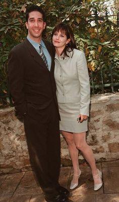 David Schwimmer and Courteney Cox