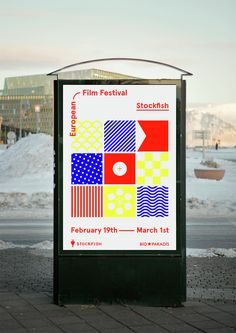 It's Nice That : Bright, abstract identity for Iceland's arthouse film festival