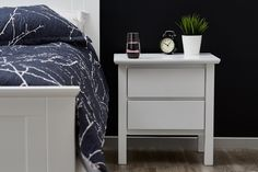 Furniture voted Best National Furniture Store of Browse our White Hardwood Bedside Table Online or Inspect the Quality in our Showroom in Dandenong Melbourne. Bed Storage, Bedroom Storage, Modern Bedside Table, Bedside Tables, White Double Bed, Queen Bedroom Suite, Double Bed With Storage, Bedroom Furniture, Bedroom Decor
