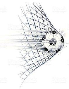 drawn of vector soccer ball goal illustrations.