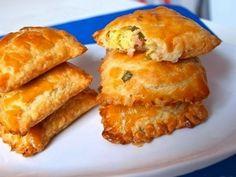 Самые вкусные рецепты: Пирожки с зеленым луком, ветчиной и сыром