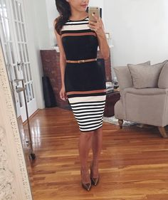 Horizontal stripes done right...& perfect petite-friendly fit // @liketoknow.it www.liketk.it/1IwaJ