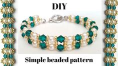 Elegant Beaded Bracelet . Diy Jewelry Making Tutorial - YouTube