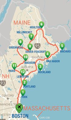 This Maine itinerary takes you through the least populated state. A state defined by its rocky coastline, rolling mountains, and picturesque waterways. Maine Road Trip, Road Trip Map, Road Trips, East Coast Travel, East Coast Road Trip, Travel Blog, Travel Usa, Orlando Florida, Orlando Disney