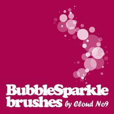 Photoshop Cafe: bubblesparkle brushes