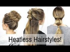 7 days of heatless hairstyles by Kayley Melissa Heatless Hairstyles, Braided Hairstyles, Quick Hairstyles, Easy Morning Hairstyles, Pelo Casual, Kayley Melissa, Holiday Hairstyles, Travel Hairstyles, Hair Day