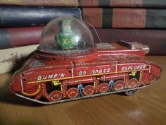 Make offer Sale  Bump'n Go Space Explorer Tin Toy by RestoredRust