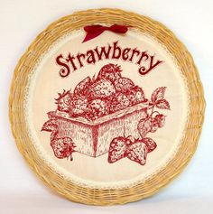 Items similar to Handcrafted Strawberry Wall Decor on Etsy Strawberry Pictures, Strawberry Decorations, Strawberry Fields Forever, Kitchen Themes, Strawberries And Cream, Decorative Plates, Sweet Home, Wall Decor, Fruit