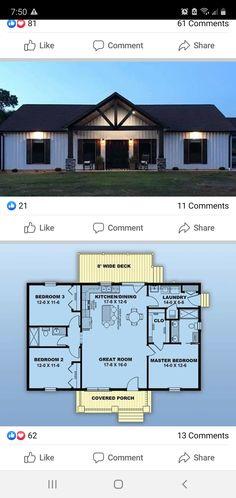 Barn Homes Floor Plans, Pole Barn House Plans, Family House Plans, Pole Barn Homes, New House Plans, Dream House Plans, Small House Plans, House Floor Plans, Metal Building House Plans