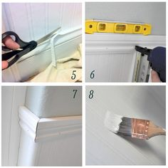 how to install beadboard wallpaper #DIY