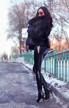 Real Girl From Russia — Moscow street and latex style girl