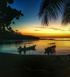 A pretty, pretty sunset on Sunset Beach at Barefoot resort on Drawaqa Island in the Yasawas, Fiji. They get these nearly every night, it's amazing.