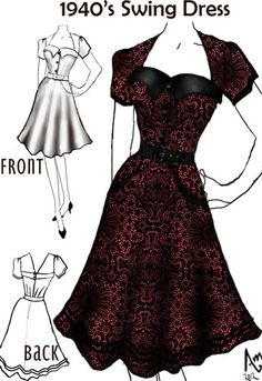 1940s swing dress--- could be an amazing bridesmaid style :)