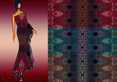 Indian Etnic - Estampa desenvolvida em conjunto com Márcio e colorida por Ká Martins para Natan Tecidos
