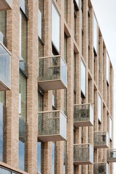 The most popular building block material in architecture doesn't have to be boring. If you're scouting for new office space, apartment, or thinking of building a… Brick Cladding, Brick Facade, Brickwork, Facade House, Architecture Design, Residential Architecture, Amazing Architecture, Brick Design, Facade Design