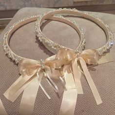 Stefana (Greek wedding crowns) I Hand made these for my wedding!
