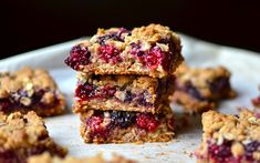 Yammie's Glutenfreedom: Chewy Blackberry Oat Bars {No butter, gluten, or white sugar!}