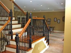 Traditional Basement Photos Design, Pictures, Remodel, Decor and Ideas - love this idea with stairs for finished basement