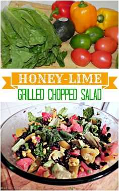 Honey-Lime Grilled Chopped Salad - Mad in Crafts