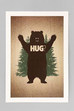 Matthew J. Parsons Bear Hug Art Print