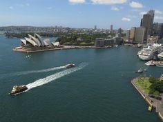 Vue sur l'opéra depuis le pont, Sydney