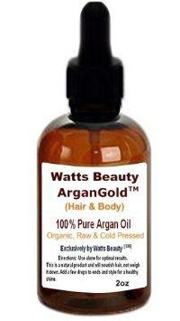 Amazon.com: Watts Beauty ArganGoldTM 120ml /100% Cert. Organic Cold Pressed Argan Nut Oil - Hair & Body -Morocco: Beauty