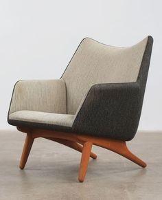 Anonymous; Oak Lounge Chair, 1950s.