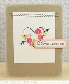 Love Here To Stay Card by Nichole Heady for Papertrey Ink (December 2013)