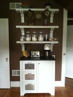 Build your own coffee station now!  Here are the best coffee station and coffee bar design ideas for your home. Check 'em out!