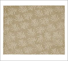All-Over Coral Rug #potterybarn (Kitchen table rug)