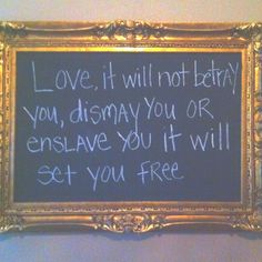 I love this quote from Mumford & Sons. It looks awesome in this frame.
