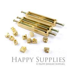 Medida 26 alfabeto letra latón cuero por HappyJewelrySupplies