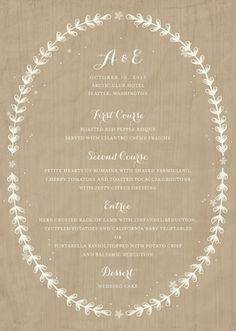 Naturally Beautiful: wood and linen menu Taupe Wedding, Rustic Wedding, Dream Wedding, Wedding Reception, Event Planning, Wedding Planning, Once Wed, Menu Design, Design Ideas