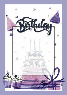 Happy Birthday Frame, Birthday Frames, Happy Birthday Images, Birthday Pictures, 1st Boy Birthday, Happy Birthday Template, Birthday Background Wallpaper, Birthday Background Design, Happy Birthday Wallpaper
