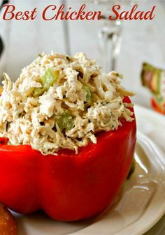 The Best Chicken Salad? I was so excited to find this recipe on Food Network recently. Forgive me if I sound a bit boa. Salad Bar, Soup And Salad, Food Salad, Fruit Salad, Food Network Recipes, Cooking Recipes, Healthy Recipes, Drink Recipes, Chicken Salad Recipes